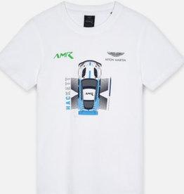Hackett t-shirt wit auto aston martin