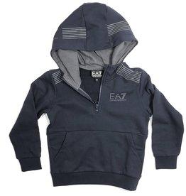 EA7 jogging hoodie met rits navy