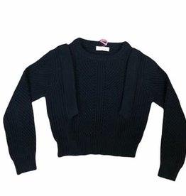 Imperial trui zwart gebreid