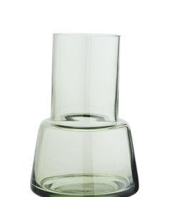 Madam Stoltz Madam Stoltz glazen vaas groen