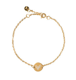 Madam the Label Madam the Label armband Chain Coin heart gold