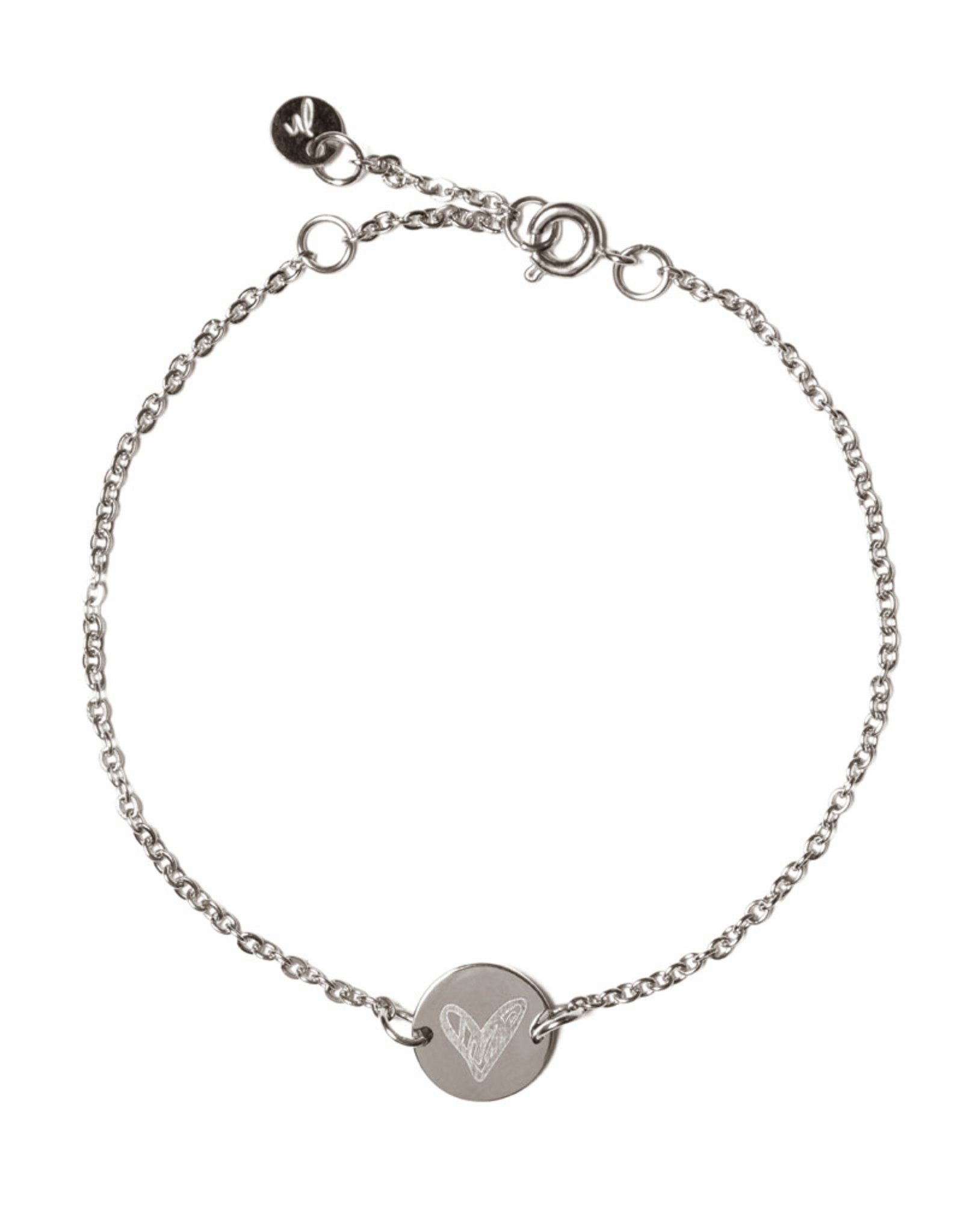 Madam the Label Madam the Label armband Chain Coin heart steel