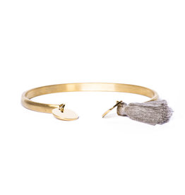 Madam the Label Madam the Label armband Cuff coin tassel gold