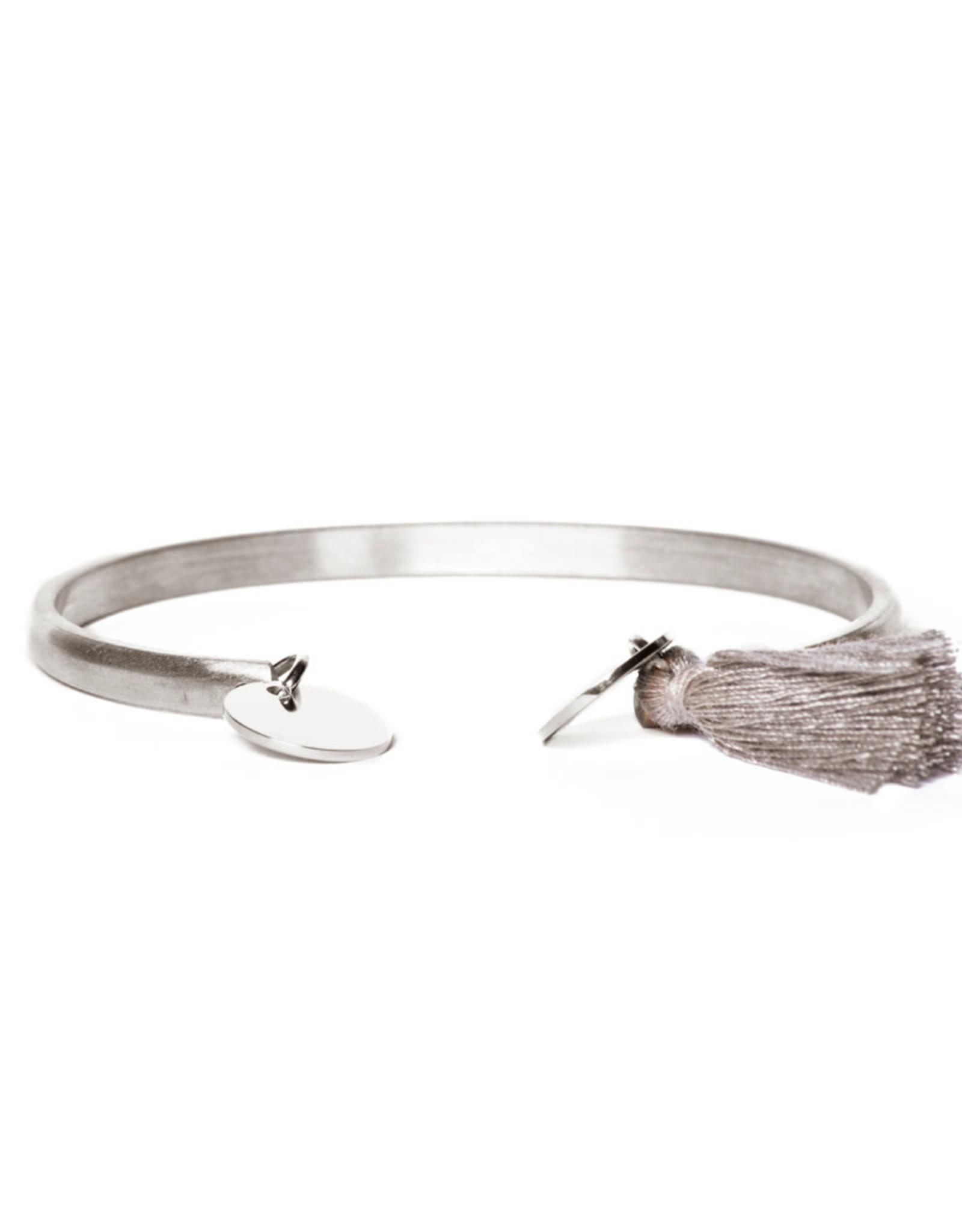 Madam the Label Madam the Label armband cuff coin en tassel steel