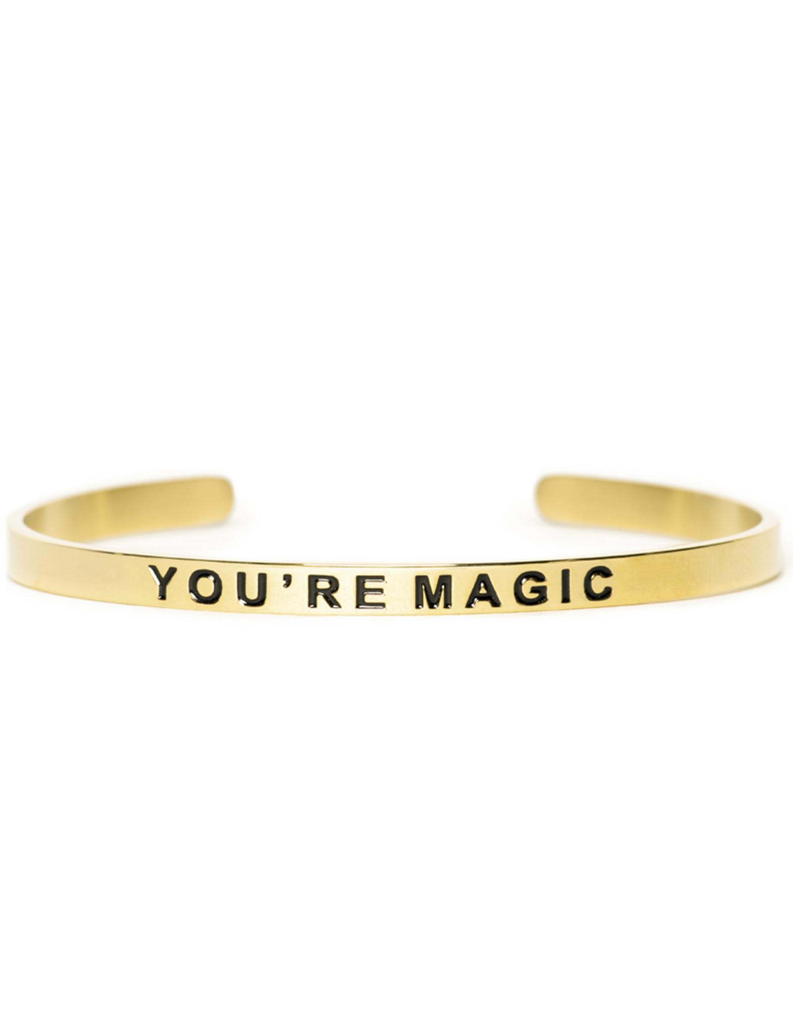 "Madam the Label Madam the Label Cuff ""You're magic"" gold"