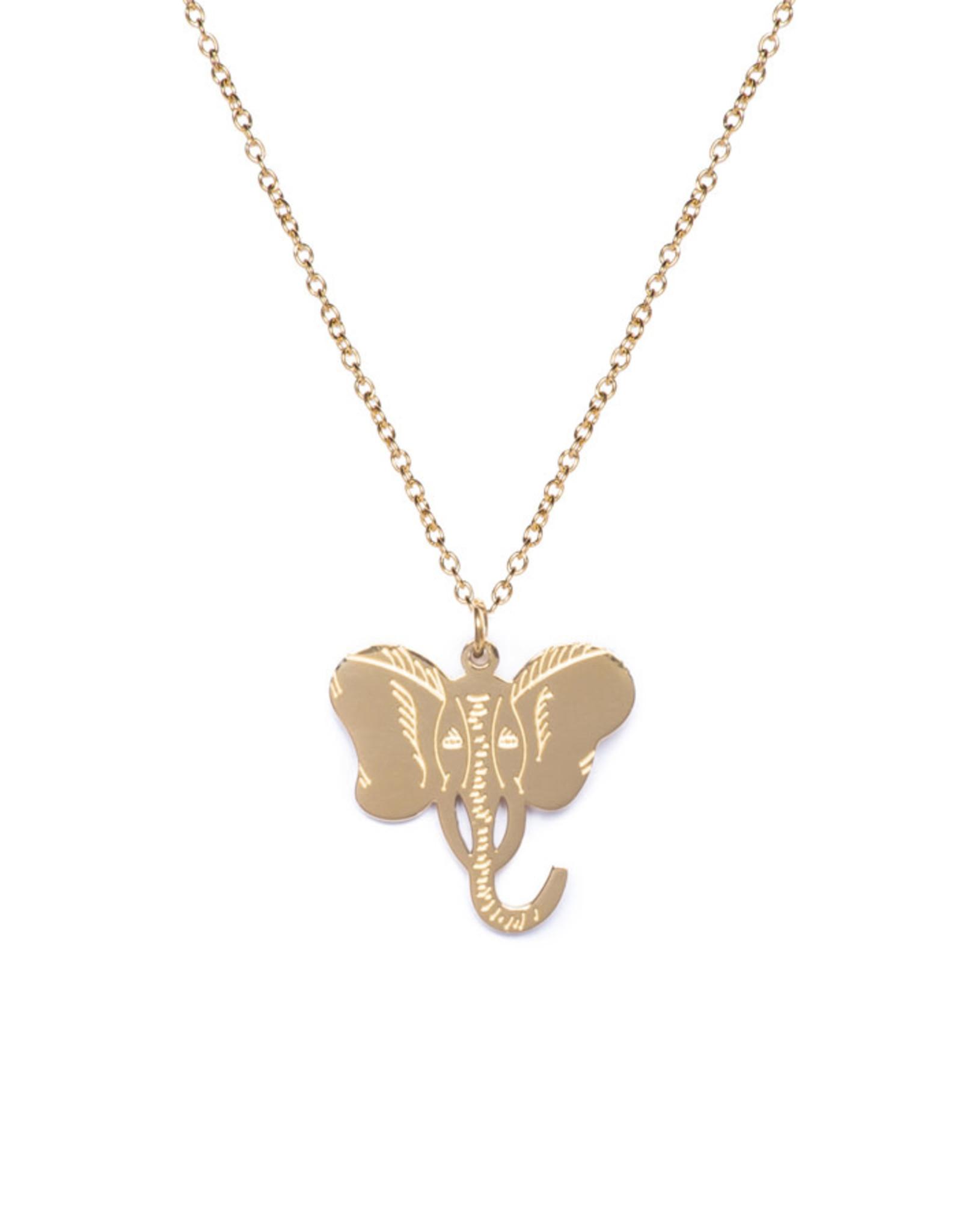 Madam the Label Madam the Label ketting elephant gold
