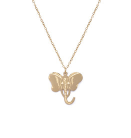 Madam the Label Madam the Label ketting elephant gold