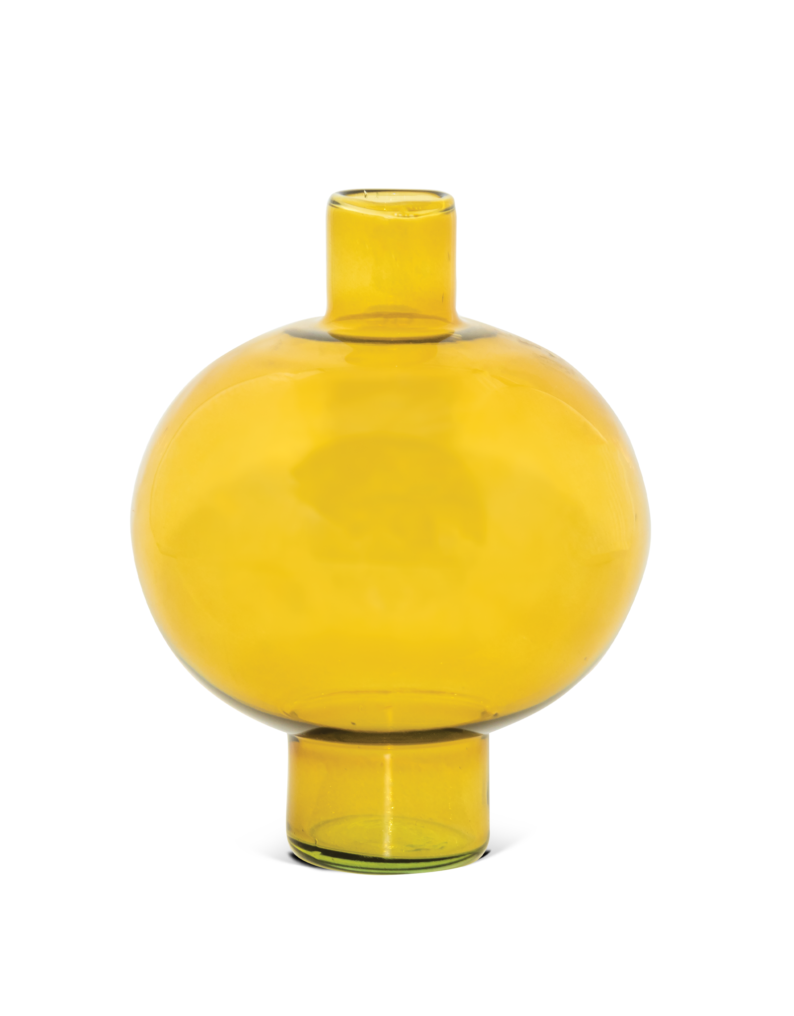 Urban Nature Culture UNC vase recycled glass round amber green