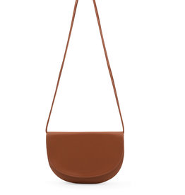 Monk & Anna Monk en Anna Farou half moon bag burnt orange