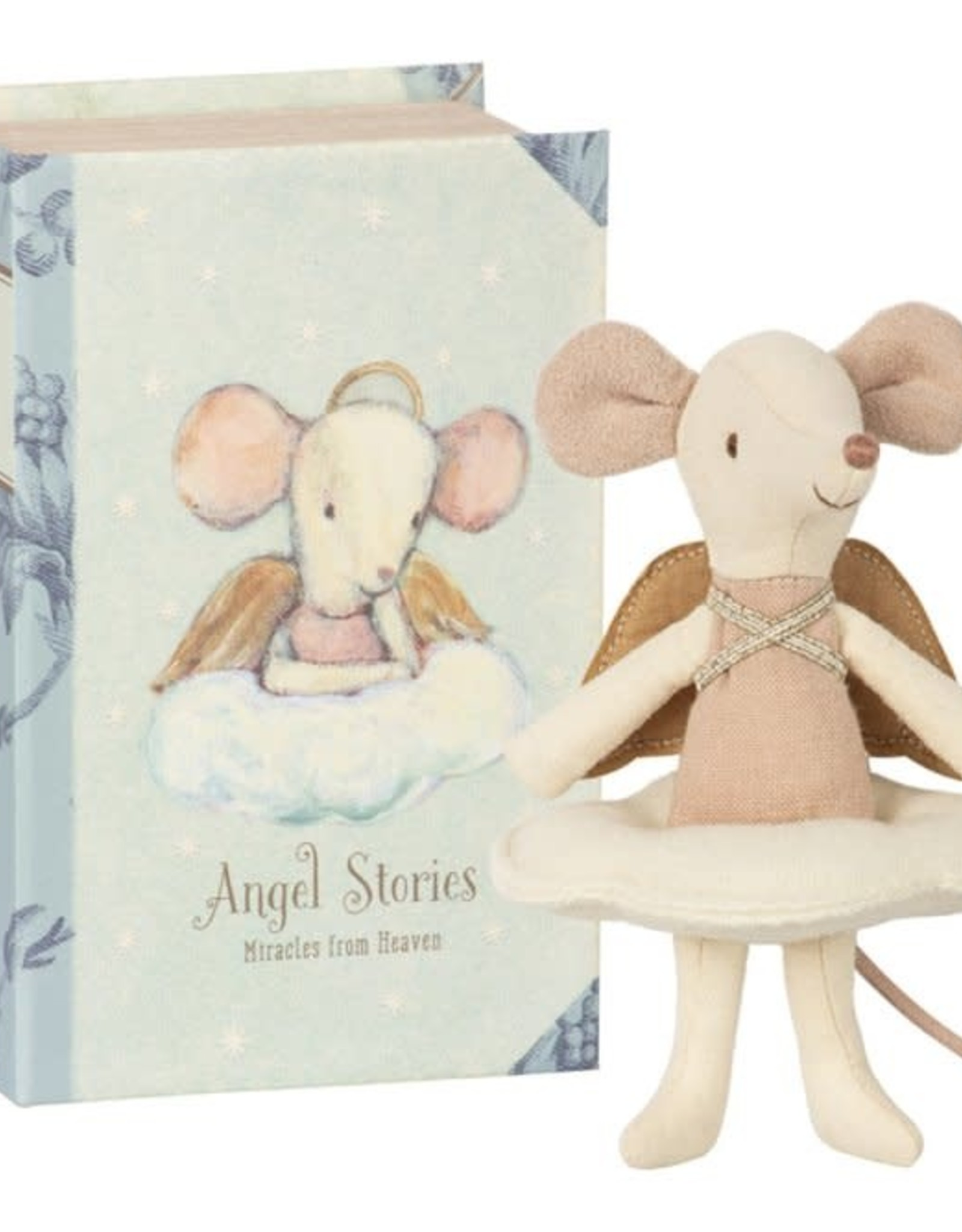 Maileg Maileg angel mouse in boek