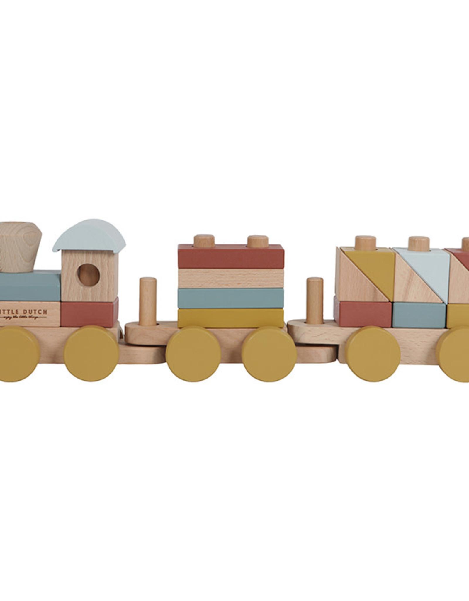 Little Dutch Little Dutch houten blokken trein Pure & Nature