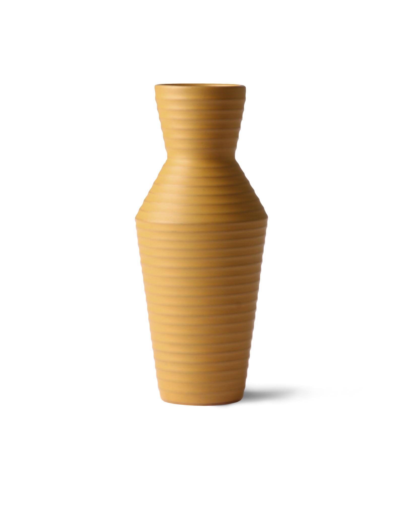 HKliving HK living ceramic vase ocre