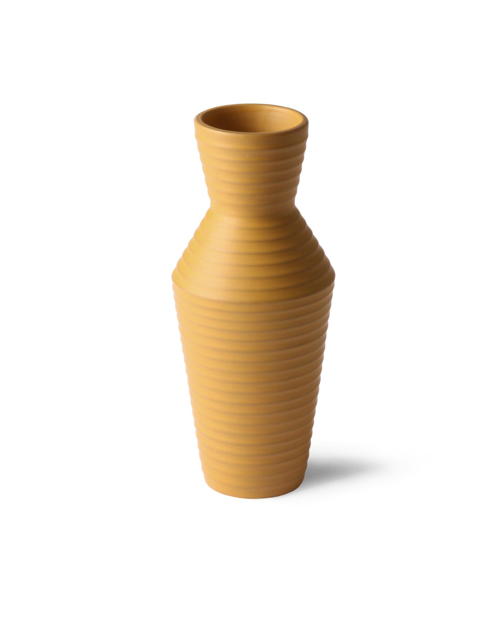 HKliving HKliving ceramic vase ocre