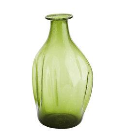 Madam Stoltz Madam Stoltz recycled glass vase green
