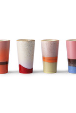 HKliving HK Living 70's Ceramics Latte mugs set van 4