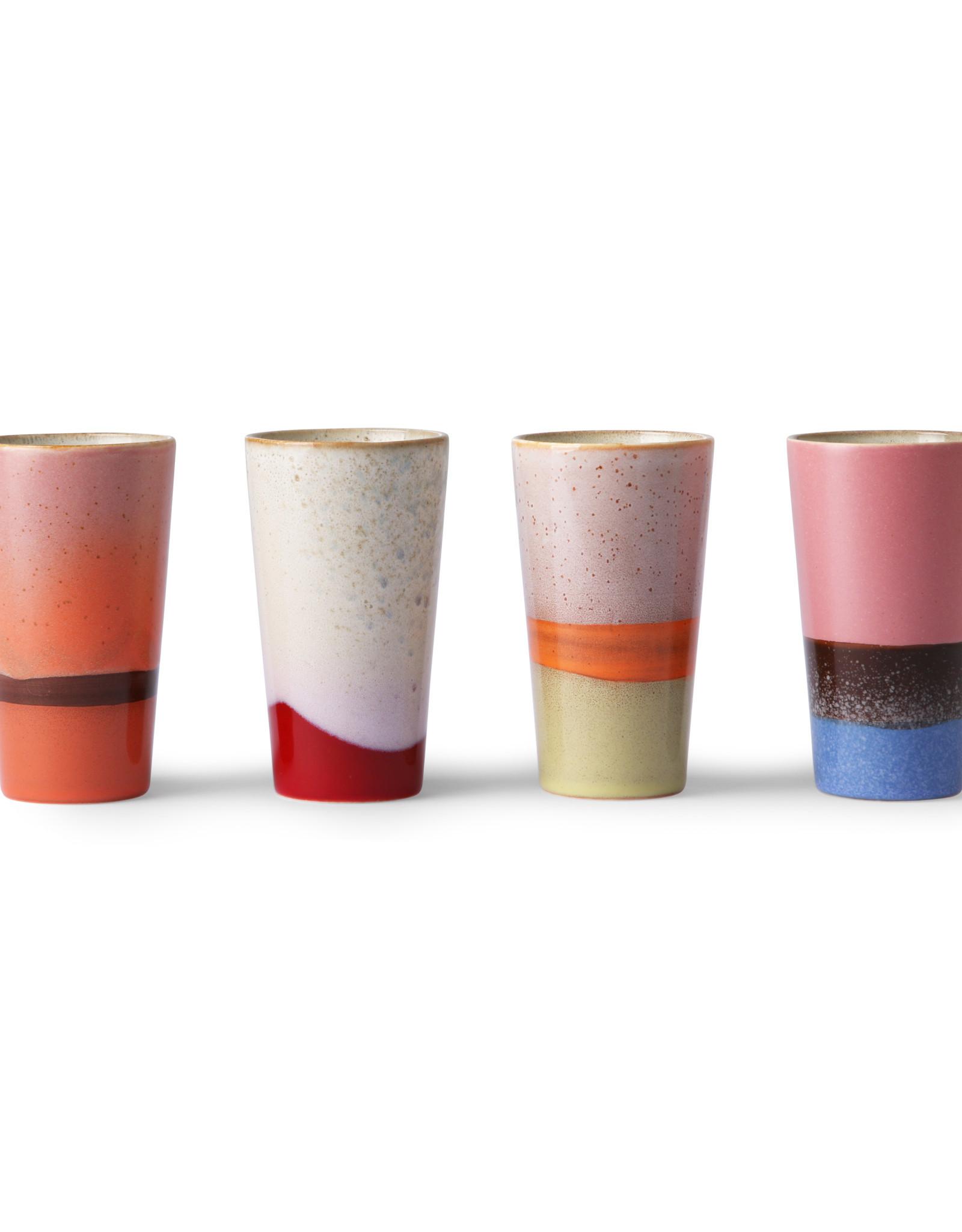 HKliving HK Living 70's ceramic Latte mugs set van 4