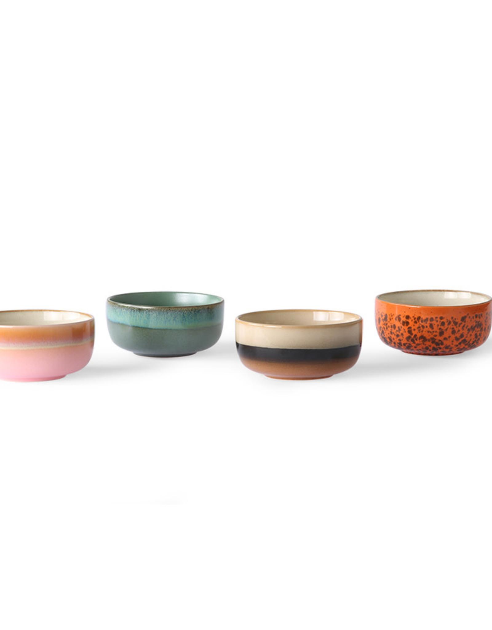 HKliving HKliving 70's Ceramics Dessert Bowls (set van 4)