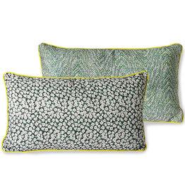 HK living Doris for HK Living printed cushion green 35x60cm