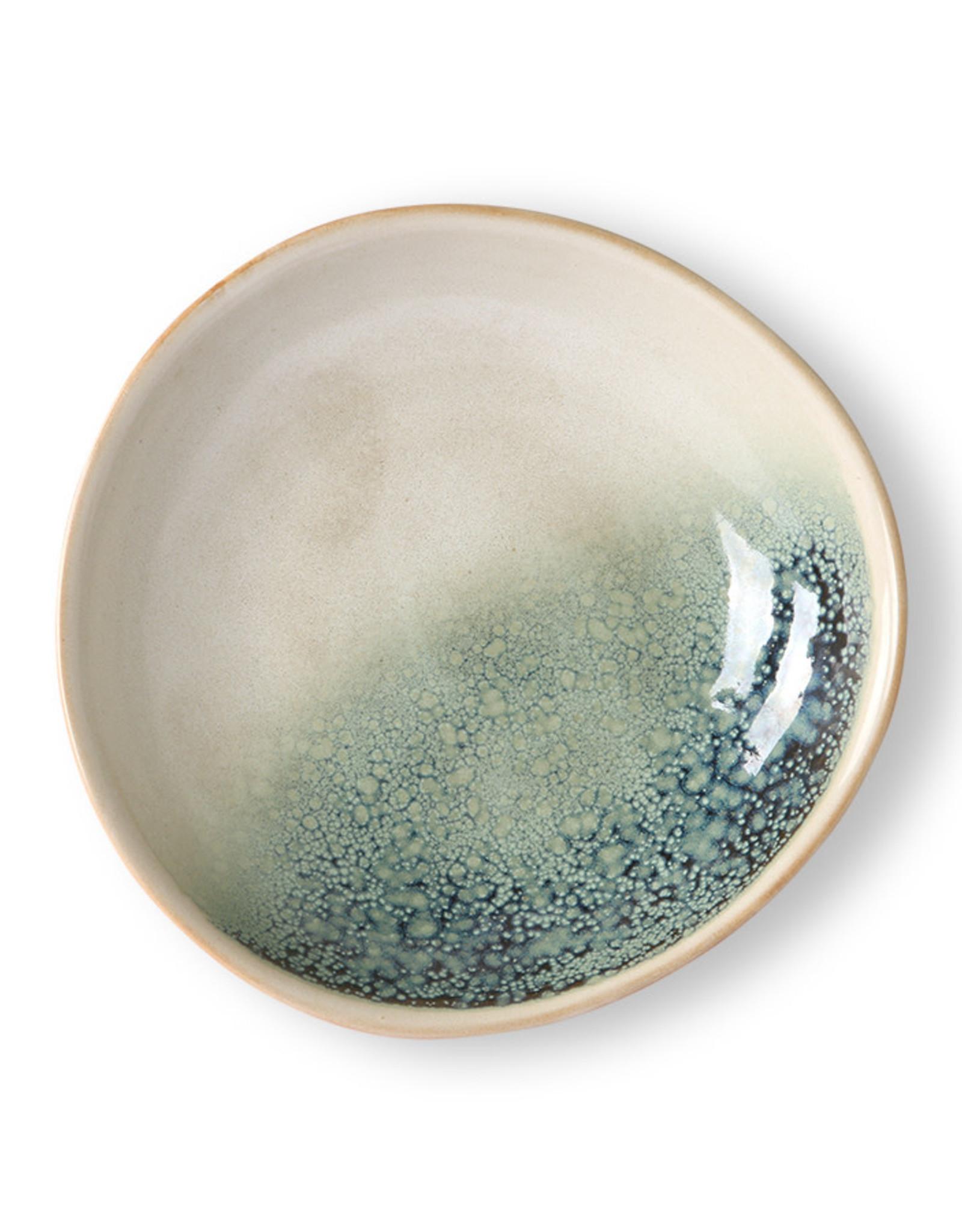 HKliving HKliving Ceramic 70's Curry Bowls Mist set van 2
