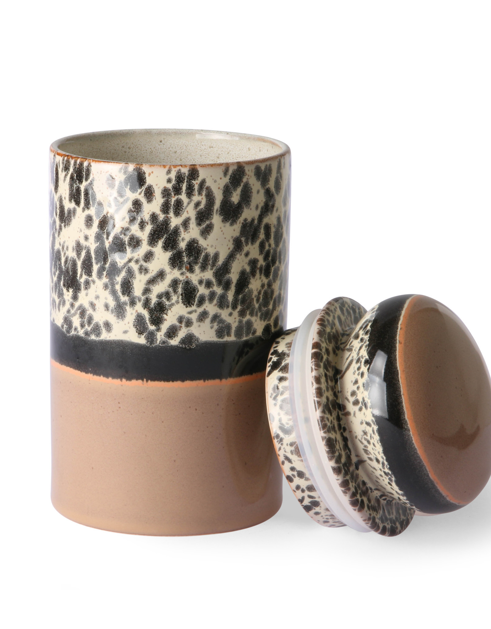 HKliving HKliving 70's Ceramics Storage Jar Tropical