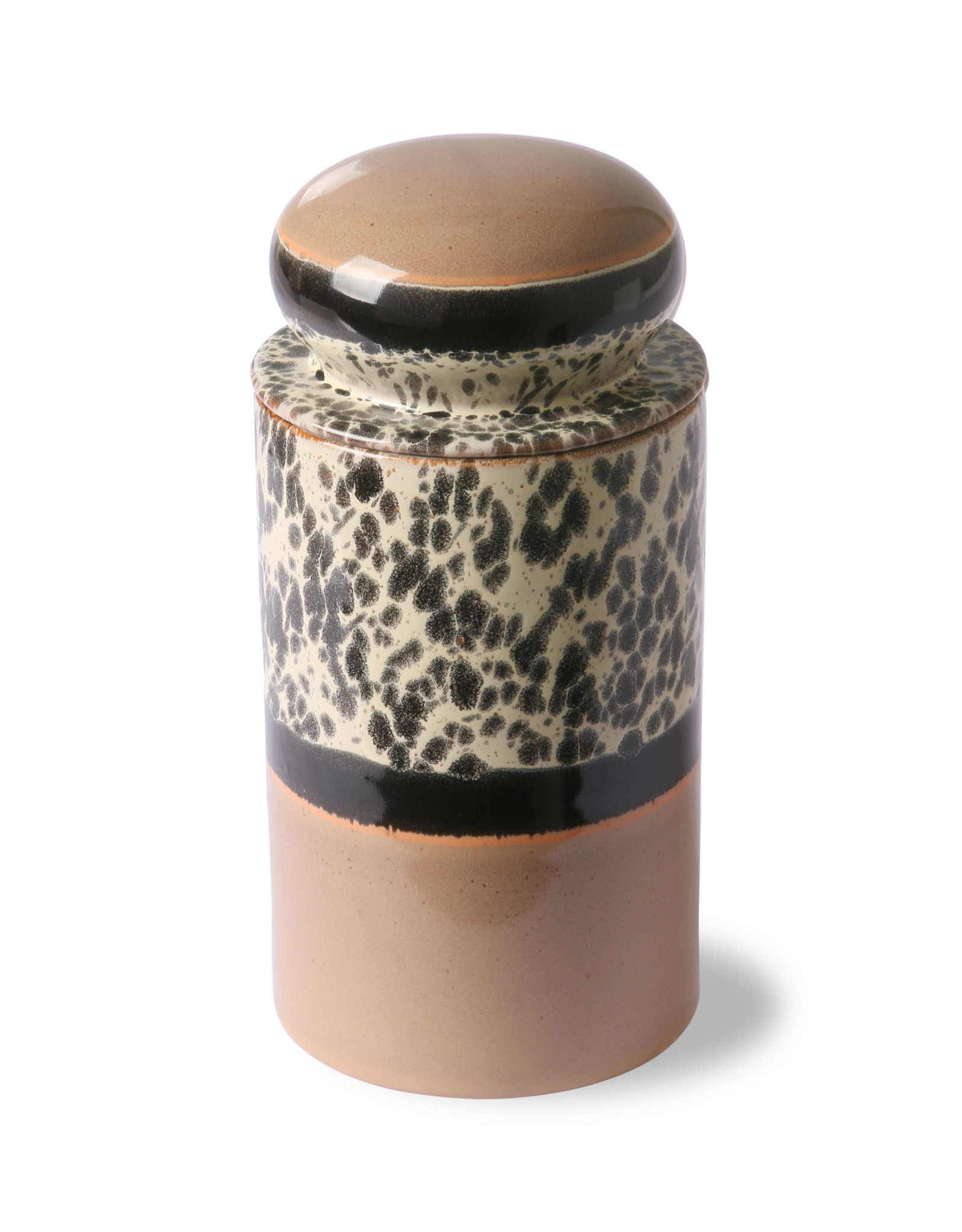 HKliving HKliving 70's Ceramics Storage Jar Topical
