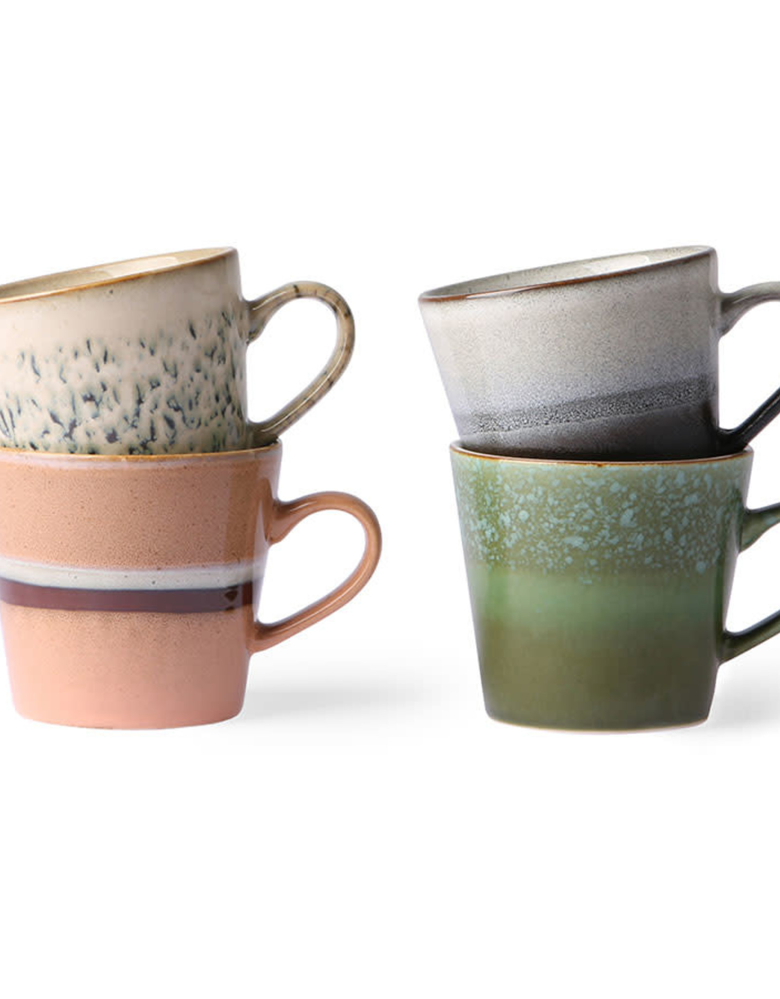 HKliving HKliving 70's Ceramics Cappuccino Mug (set of 4)