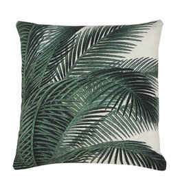 HKliving HKliving Printed Cushion Palm Leaves( 45x45cm)