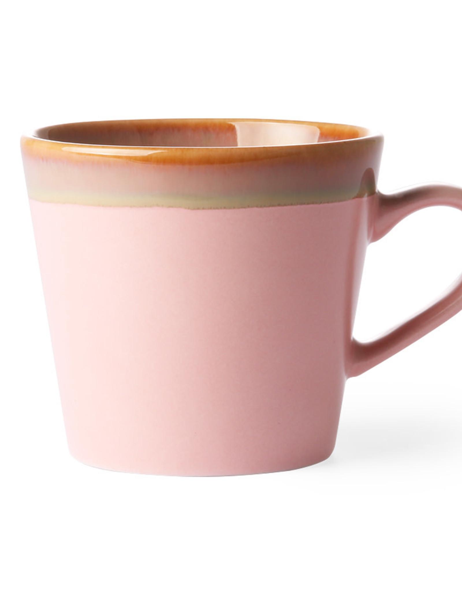HKliving HKliving 70's Ceramics Cappuccino Mug Pink