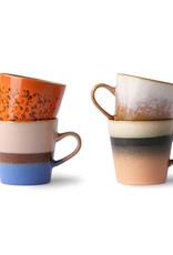 HKliving HKliving 70's Ceramics Americano Mug 2  (set van 4)