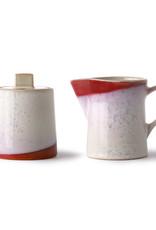 HKliving HKliving 70's Ceramics Milk Jug & Sugar Pot