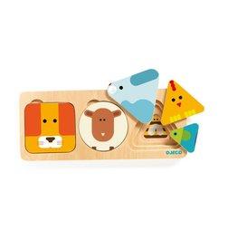 Djeco Djeco Animabasic houten puzzel