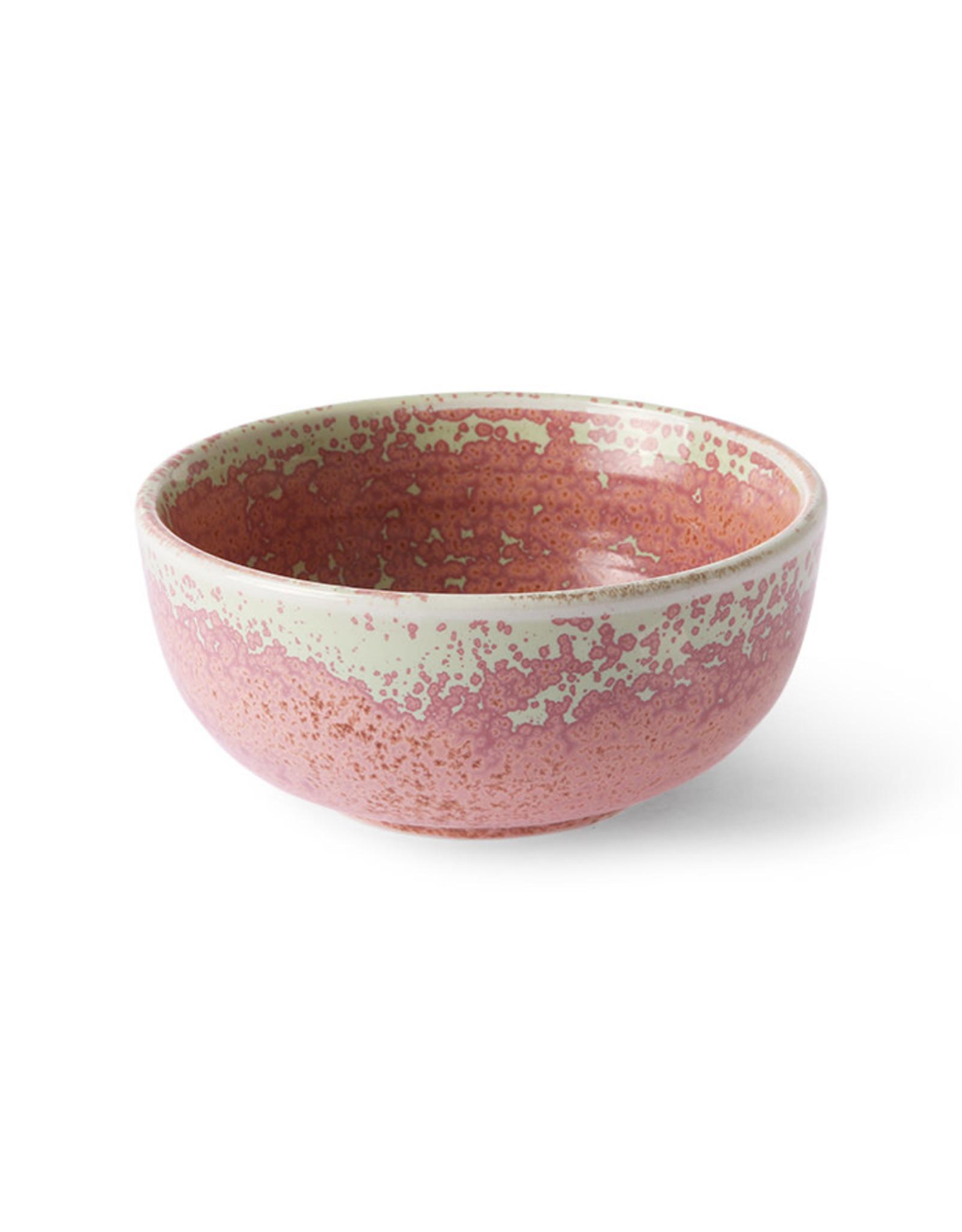 HKliving HKliving Homechef Ceramics Bowl Rustic Pink