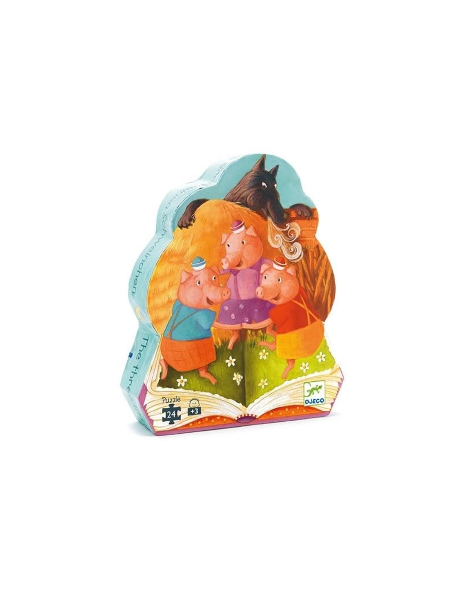 Djeco Djeco Silhouette Puzzle Drie kleine varkentjes