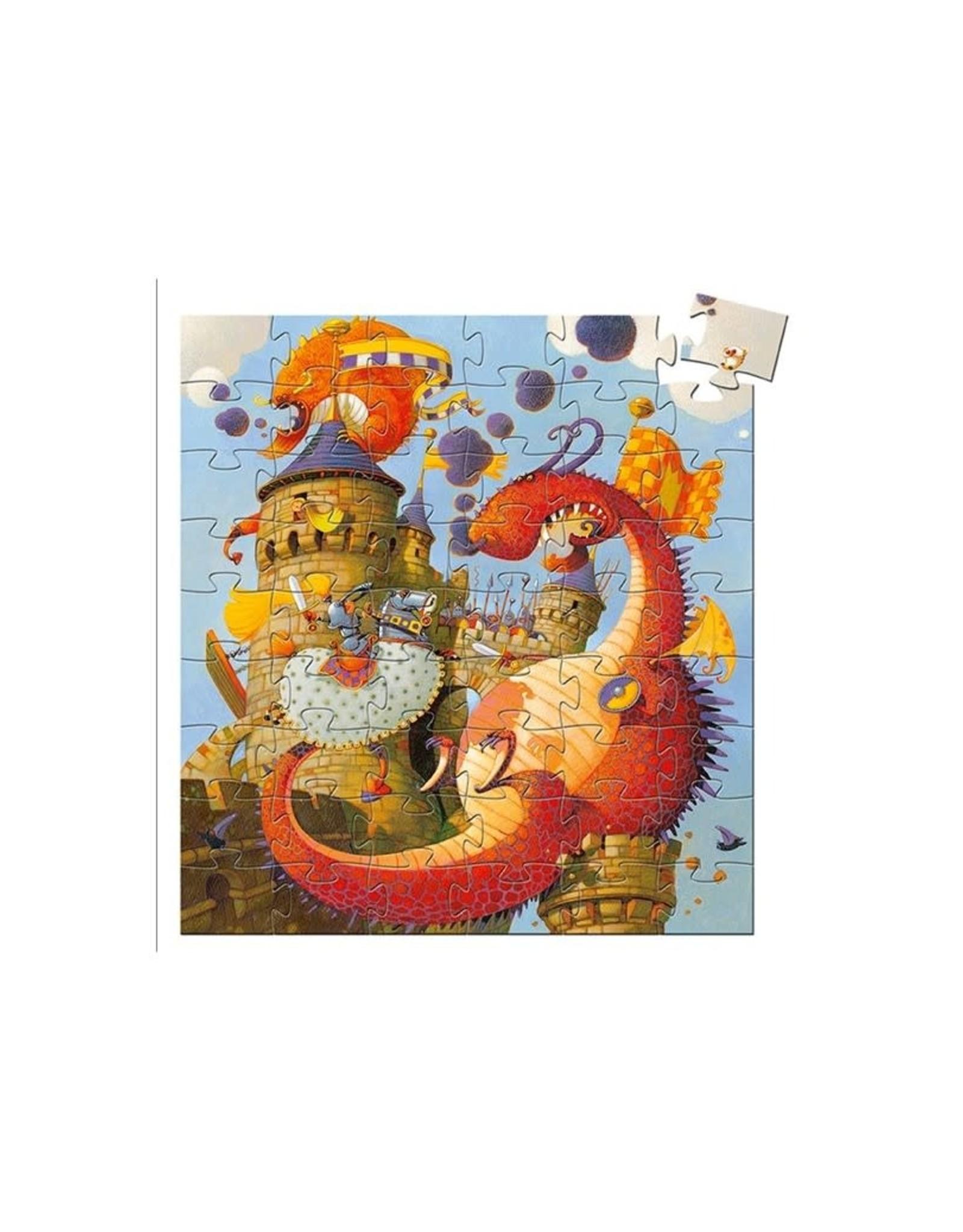 Djeco Djeco Silhouette Puzzle Vaillant and the dragon