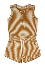 Your Wishes Your Wishes Gold Stripes Racerback Jumpsuit