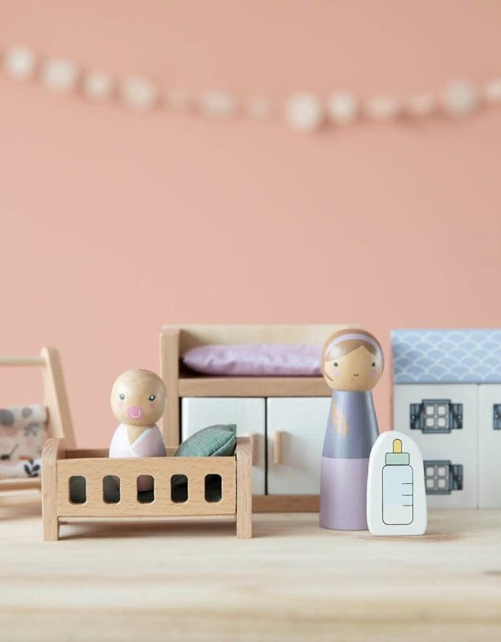 Little Dutch Little Dutch poppenhuis speelset babykamer