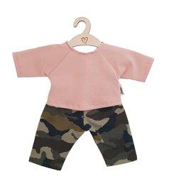 Hollie Hollie poppenbroek en -shirt camouflage dusty rose