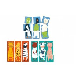 Djeco Djeco 1.2.3. Animo Houten puzzel - Fancy animals