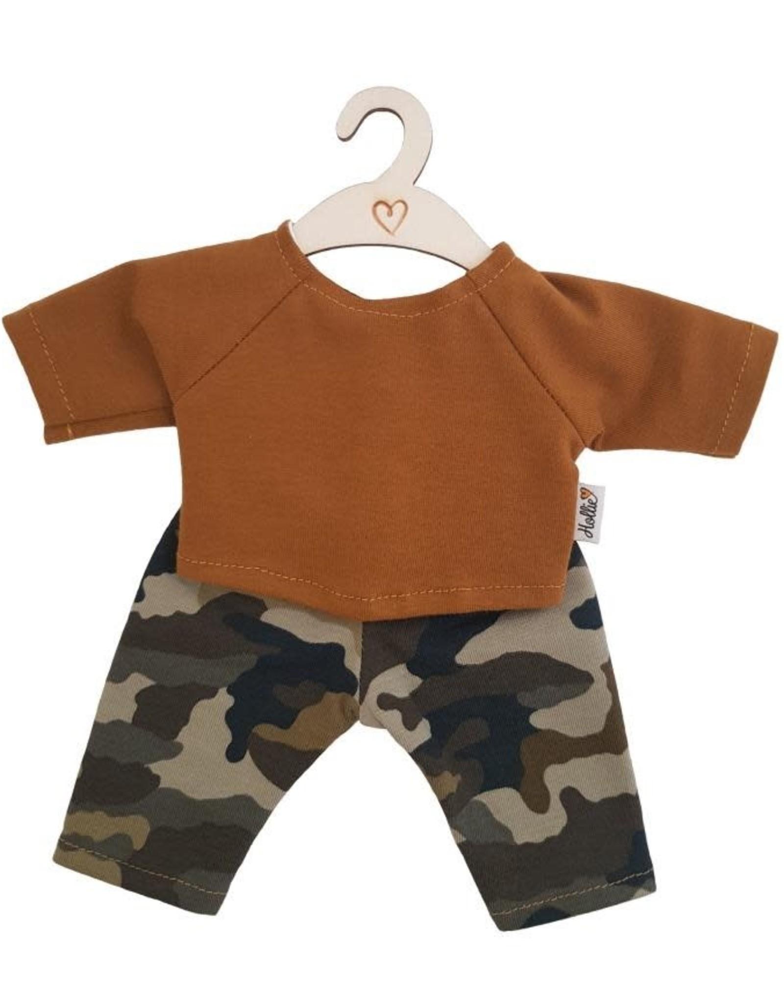 Hollie Hollie kledingsetje shirt en camouflagebroek