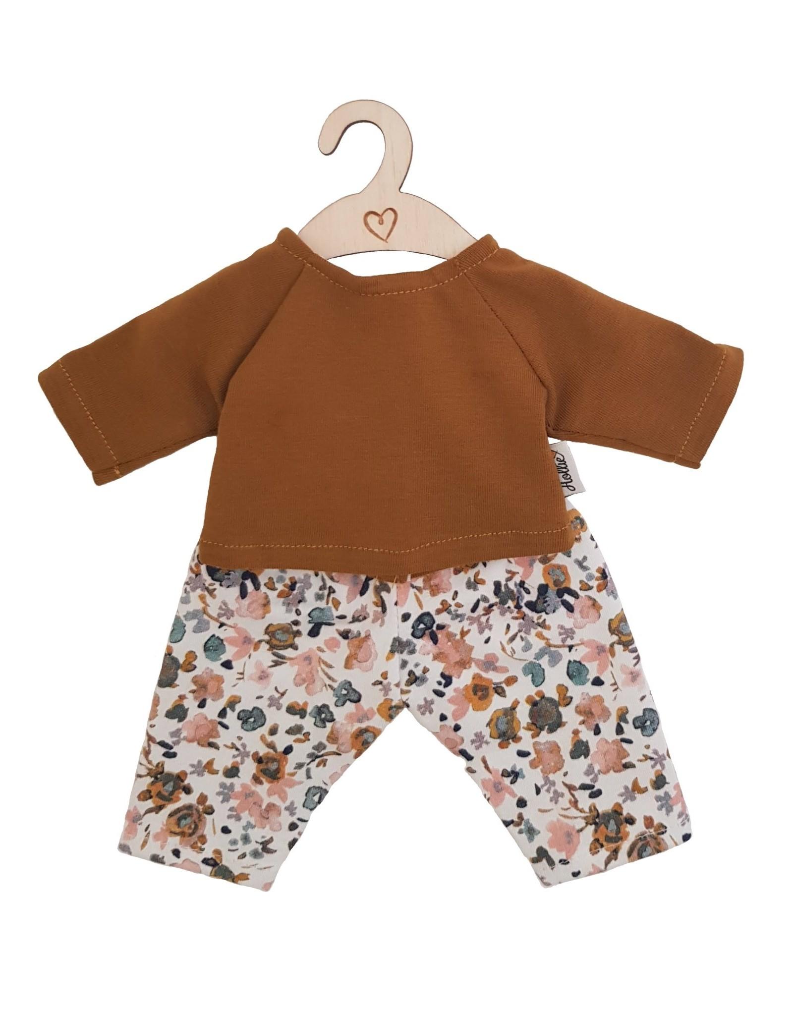 Hollie Hollie poppenbroek en shirt Poppy