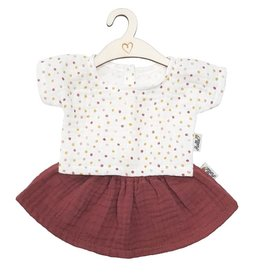 Hollie Hollie poppenrok en shirt dots