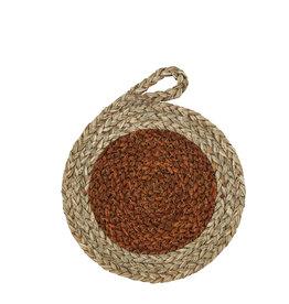 Madam Stoltz Madam Stoltz Seagrass Trivet Oranje