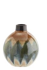 Madam Stoltz Madam Stoltz Round Stoneware Vase Green