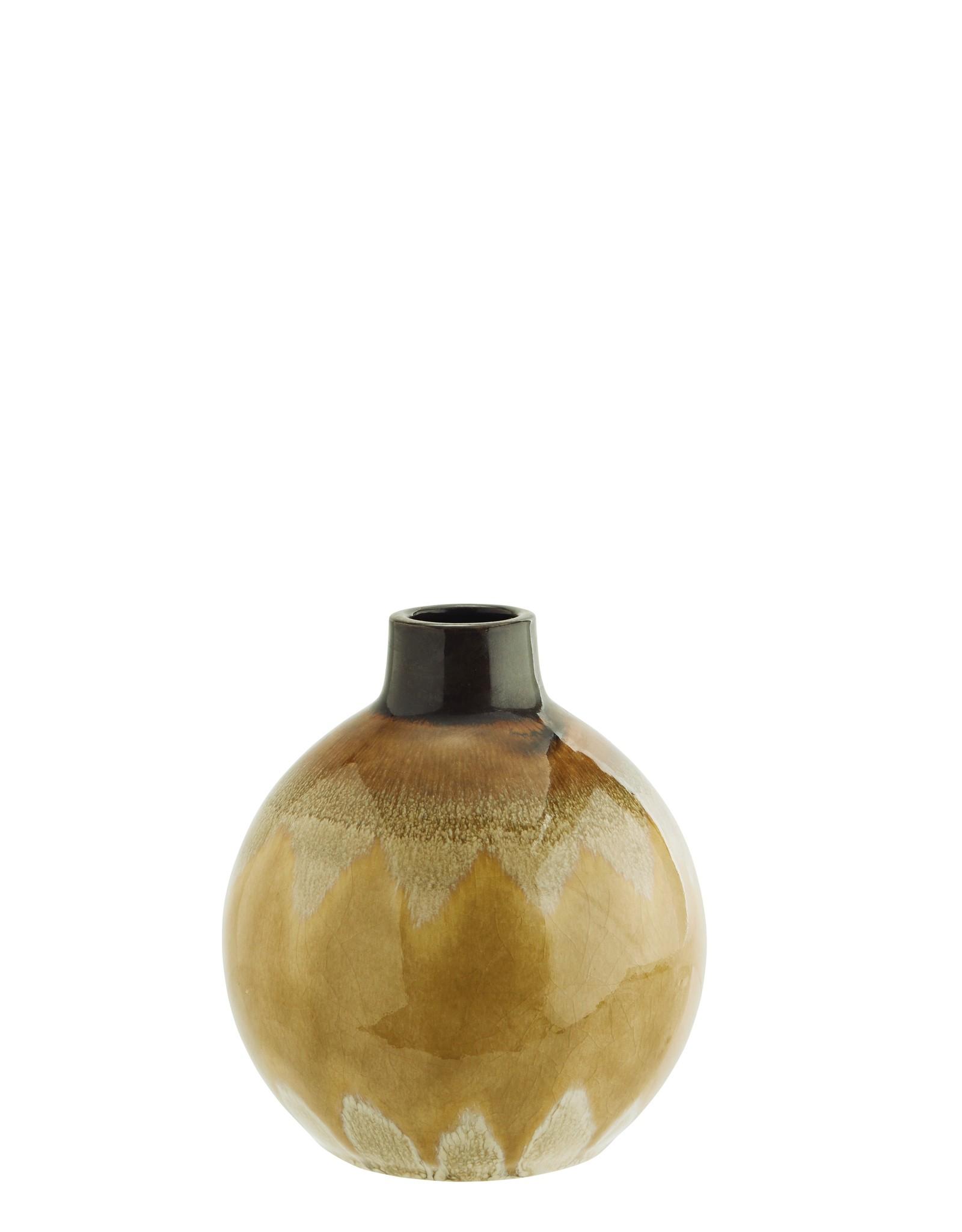 Madam Stoltz Madam Stoltz Stoneware Vase Yellow klein