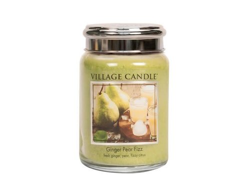 VILLAGE CANDLE LARGE CANDLE - GINGER PEAR FIZZ