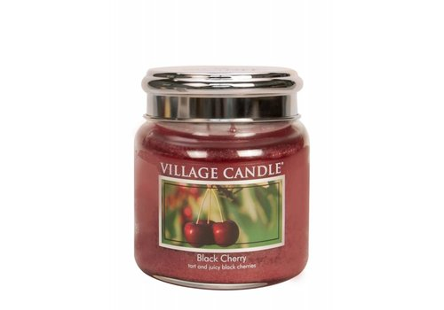 VILLAGE CANDLE MEDIUM CANDLE - BLACK CHERRY