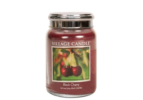 VILLAGE CANDLE LARGE CANDLE - BLACK CHERRY