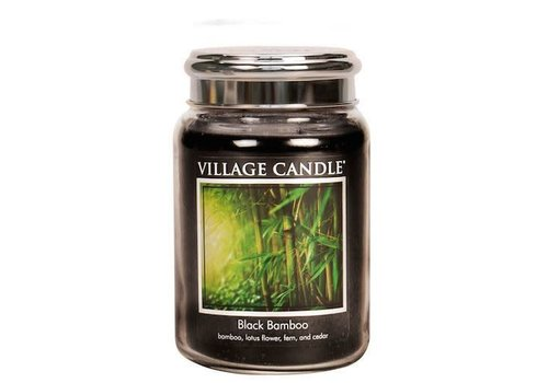 VILLAGE CANDLE VILLAGE CANDLE -  BLACK BAMBOO LARGE