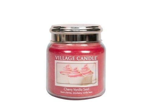 VILLAGE CANDLE VILLAGE CANDLE - CHERRY VANILLA SWIRL MEDIUM