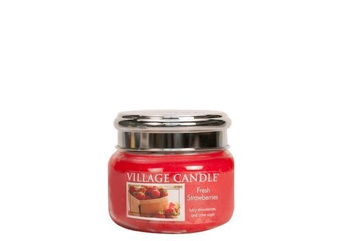 VILLAGE CANDLE SMALL CANDLE - FRESH STRAWBERRIES